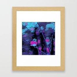 Junco Neon Pink Purple by CheyAnne Sexton Framed Art Print