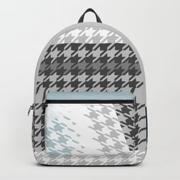 Modern Houndstooth Reinterpreted A – Navy / Gray / White Checked Pattern Backpack