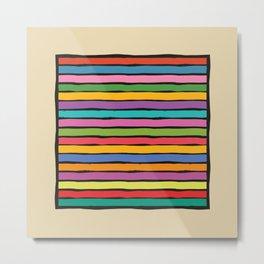 dp203-12B Colorful Stripes Metal Print