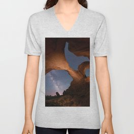 Double Arch in Arches National Park 2 Unisex V-Neck