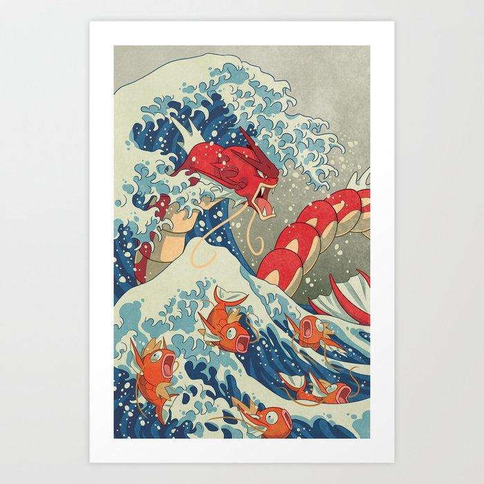 The Great Red Wave I Kunstdrucke