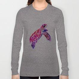 Purple Turtle Bright Pink, purple blue turtle illustration Long Sleeve T-shirt