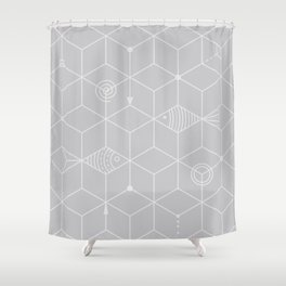 two fishes Shower Curtain