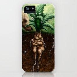 Painted Mandrake iPhone Case