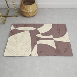 Abstract - Vase Shapes in Mauve Rug