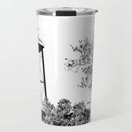 Conway Watertower B/W Digital Sketch Travel Mug