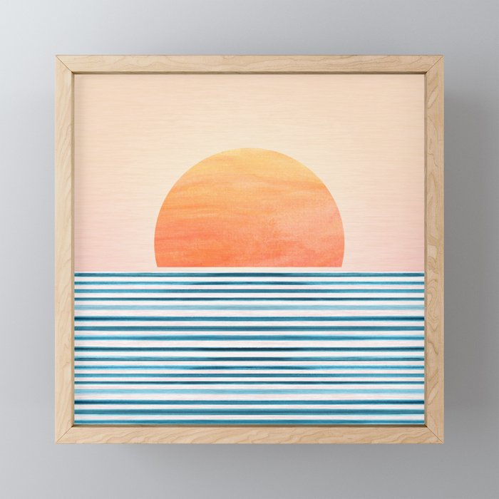 Morning in Paradise ~ Tropical Sunrise Framed Mini Art Print