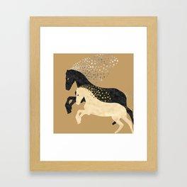 Free Horses Framed Art Print