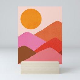Abstraction_Mountains_SUNSET_Minimalism_008 Mini Art Print