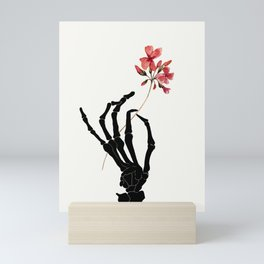 Skeleton Hand with Flower Mini Art Print