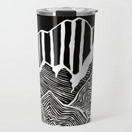 Geode Mountains Black and White Travel Mug