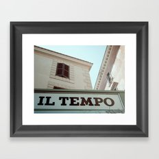 il tempo Framed Art Print
