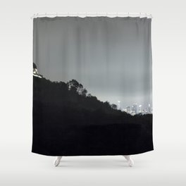 Griffith Park Observatory and Los Angeles Skyline at Night Shower Curtain