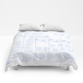 Blue circle on white Comforters
