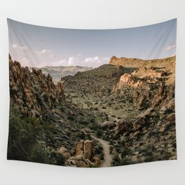 Balanced Rock Valley View in Big Bend - Landscape Photography Wall Tapestry