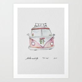 San Fransisco | Christmas Car Art Print