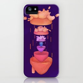 Heart matrioshka on dark background iPhone Case