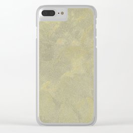 Modern Masters Metallic Plaster - Aged Gold and Silver Fox - Custom Glam Clear iPhone Case
