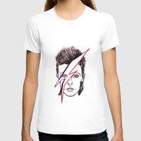 aladdin T-shirts featuring Bowie Aladdin by Diego La Diabla
