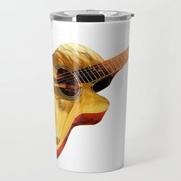 The guitar is a lady Travel Mug