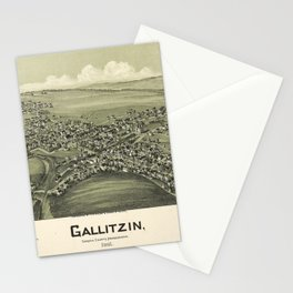 Aerial View of Gallitzin, Pennsylvania (1901) Stationery Cards