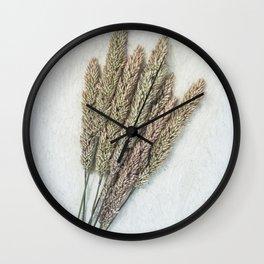 Summer Grass III Wall Clock