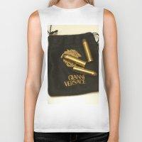 versace Biker Tanks featuring Versace Bullets Colt by Premium