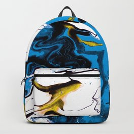 Dreamscape 01 in Blue, White & Gold Backpack