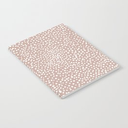 Little wild cheetah spots animal print neutral home trend warm dusty rose coral Notebook
