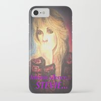 stevie nicks iPhone & iPod Cases featuring Stevie Nicks- Intense Silence by Anne Merritt
