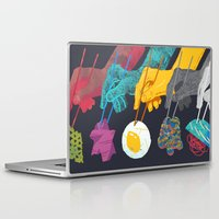 ramen Laptop & iPad Skins featuring Top Ramen by Nick Iluzada