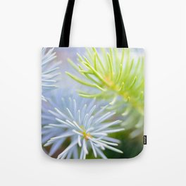 Two fir branches close-up shot Tote Bag