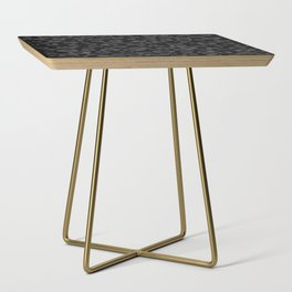 Black and Gray Leopard Side Table