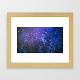 Purple Galaxy Painting Framed Art Print