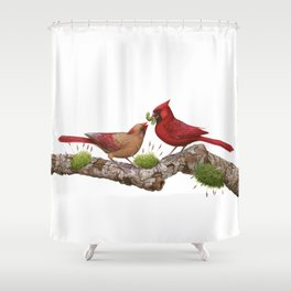 Northern  Cardinals Shower Curtain