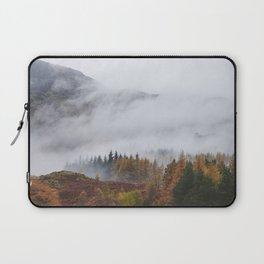 Rain clouds sweeping through the mountains near Blea Tarn. Cumbria, UK. Laptop Sleeve