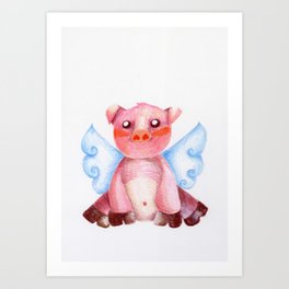winged pig Art Print