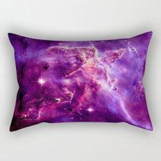Mystic Mountain nebula. Purple Fuchsia Pink Rectangular Pillow