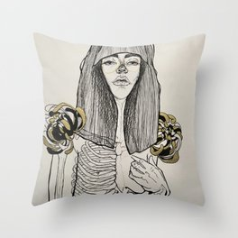 Mourning Lingerie Throw Pillow