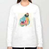 sprinkles Long Sleeve T-shirts featuring Sprinkles on her Cupcake by Carina Crenshaw