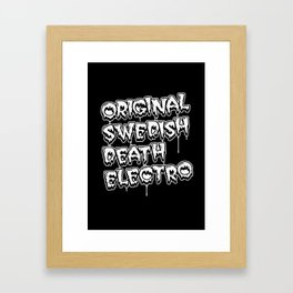 Original Swedish Death Electro #1 Framed Art Print