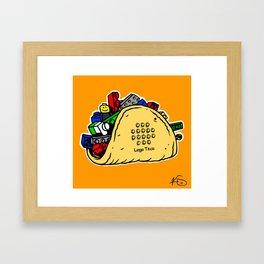 Lego Taco Framed Art Print