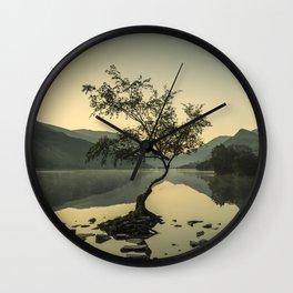 Tree at Llyn Padarn IV Wall Clock