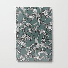 woodland fox party juniper Metal Print