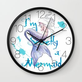 Secretly a Mermaid Wall Clock