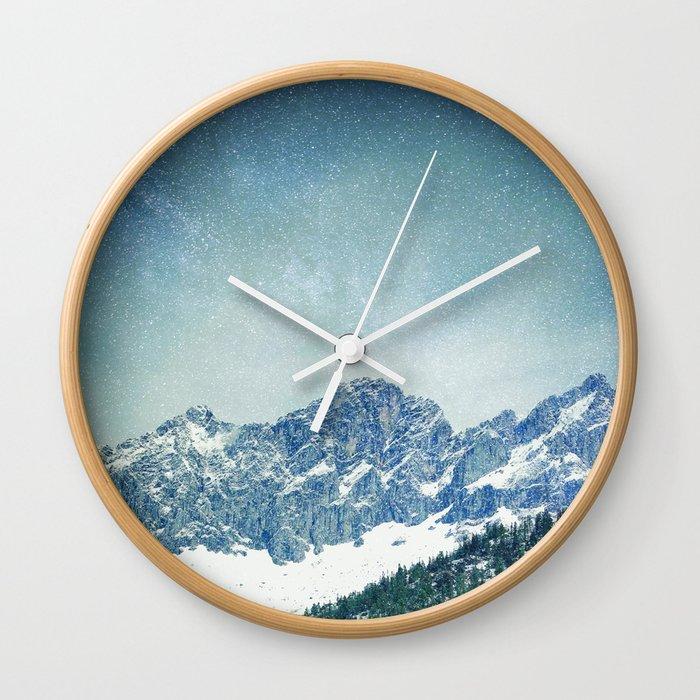 Snow Mountain V3 #society6 #buyart #decor Wall Clock