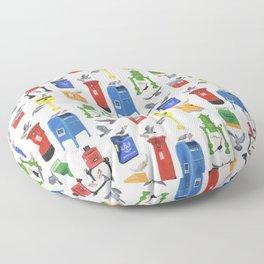 Mailboxes Around the World Floor Pillow