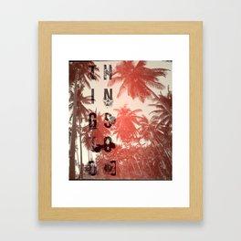 Busy Palms Framed Art Print