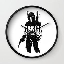 Jango Unchained Wall Clock