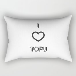 I Love Tofu Rectangular Pillow